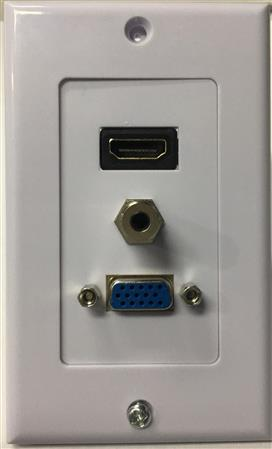 FACE PLATE HDMI+VGA+AUDIO PURESONIC 164R