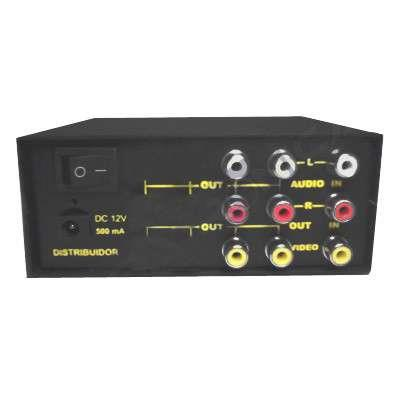 DISTRIBUIDOR Y AMPLIF 1 X 2  VIDEO/AUDIO ST