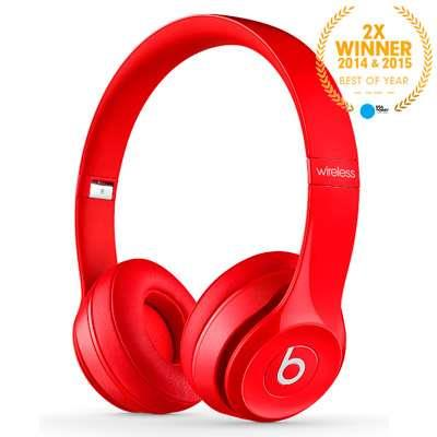 AURICULAR SOLO2 WIRELESS BEATS ROJO