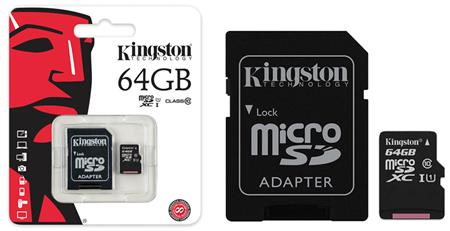 MEMORIA MICRO SD  64GB CLAS10 KINGSTON